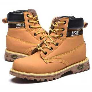 【25cm(EU40)】安全靴 イエローブーツ(ブーツ)