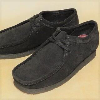 クラークス(Clarks)のクラークス ワラビーロー CLARKS WALLABEE-LO 黒 US8.0(ブーツ)