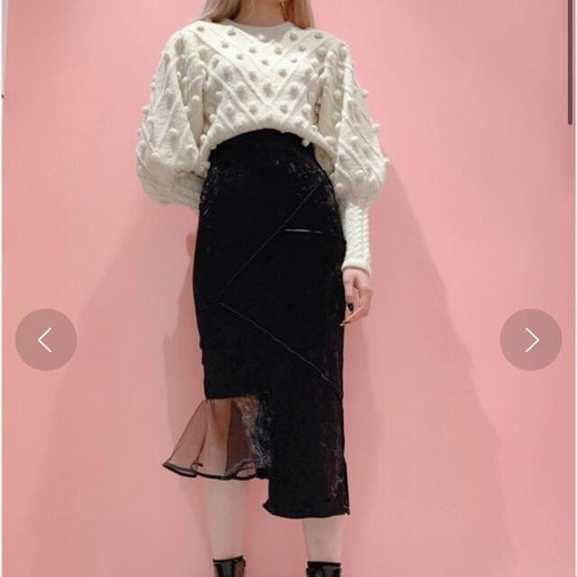 lilLilly(リルリリー)のベロアスカート レディースのスカート(ひざ丈スカート)の商品写真