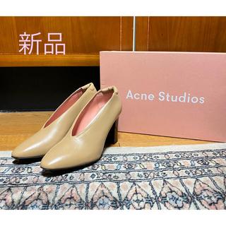 ACNE - 新品タグ付定価7万円!Acne Studios*レザーパンプス キャメル37