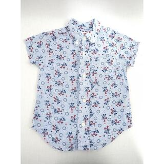 デニムダンガリー(DENIM DUNGAREE)のDENIM DUNGAREE ミッキーコラボ 総柄シャツ 90cm(Tシャツ/カットソー)