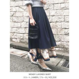 アメリヴィンテージ(Ameri VINTAGE)のAMERI/スカーフ レイヤード ロングスカート(ロングスカート)