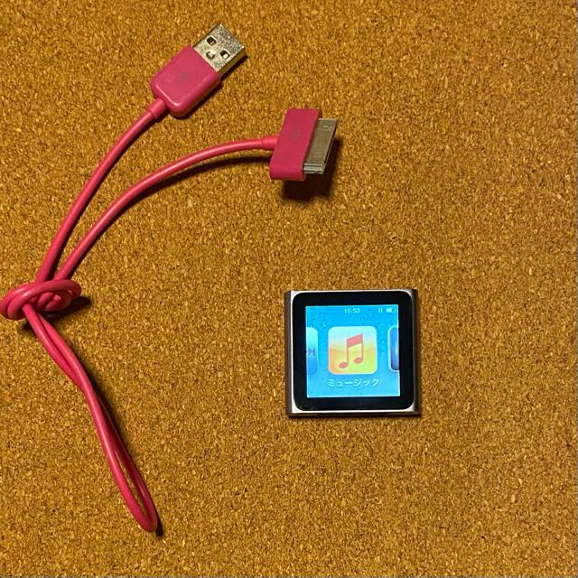 Apple(アップル)のApple iPod nano 8GB グラファイト 本体 第6世代 スマホ/家電/カメラのオーディオ機器(ポータブルプレーヤー)の商品写真