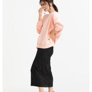 トゥデイフル(TODAYFUL)のmite プリーツストレートスカート ブラック 美品(ロングスカート)