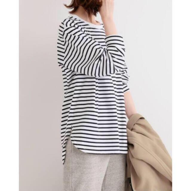IENA(イエナ)の【新品】IENA ラウンドテールロングTシャツ レディースのトップス(カットソー(長袖/七分))の商品写真