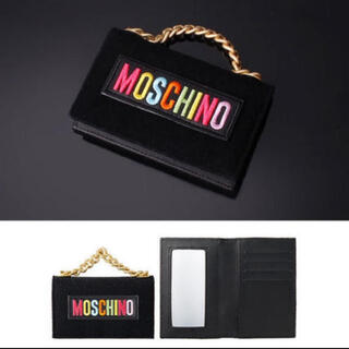 MOSCHINO カードケース ミラー付き(名刺入れ/定期入れ)
