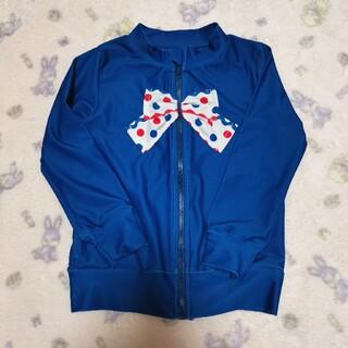 Shirley Temple - 298・【110】シャーリーテンプル 水着 ラッシュガード ブルー リボン
