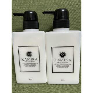カミカ 黒髪クリームシャンプー KAMIKA 400g 2本