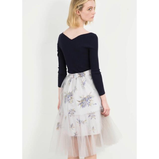 snidel(スナイデル)のプリーツフラワースカート レディースのスカート(ひざ丈スカート)の商品写真