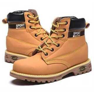 【25.5cm(EU41)】安全靴 イエローブーツ ワークブーツ メンズ ブーツ(ブーツ)
