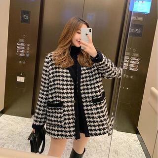 韓国 ファッション レディース コート(ダウンジャケット)