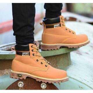 【25cm(EU40)】安全靴 イエローブーツ ワークブーツ メンズ ブーツ(ブーツ)
