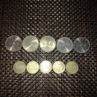 内閣制度百年 五百円玉 稲穂 百円玉 セット(貨幣)