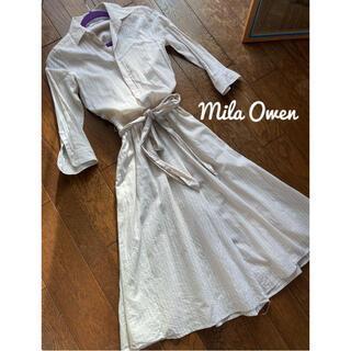 ミラオーウェン(Mila Owen)の【着画あり】Mila Owen◆ストライプシャツワンピース❤️(オールインワン)