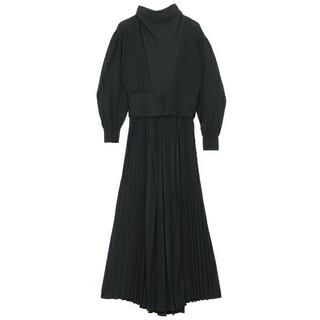 Ameri VINTAGE - AMERISIDE PLEATS KNIT DRESS