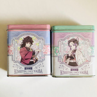 BANDAI - キャンディ缶 鬼滅の刃 冨岡義勇 胡蝶しのぶ