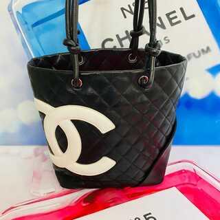 CHANEL - 美品✨シャネル デカココ ミニカンボン トートバッグ