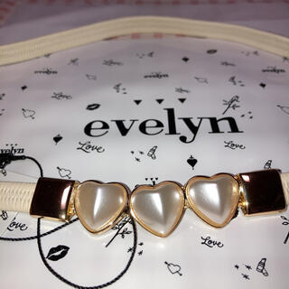 evelyn - Evelynエブリン ハートゴムベルト 白/ホワイト Mサイズ袋かわいい原宿