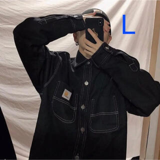 carhartt - 新品♡カーハート ジャケット デニムジャケット黒 ブラックL