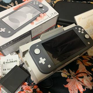 任天堂 - Nintendo Switch lite グレー、動作確認初期化済