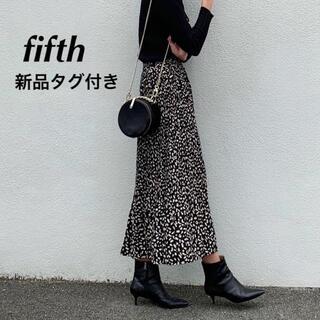 fifth - fifth レオパードプリーツスカート ブラック