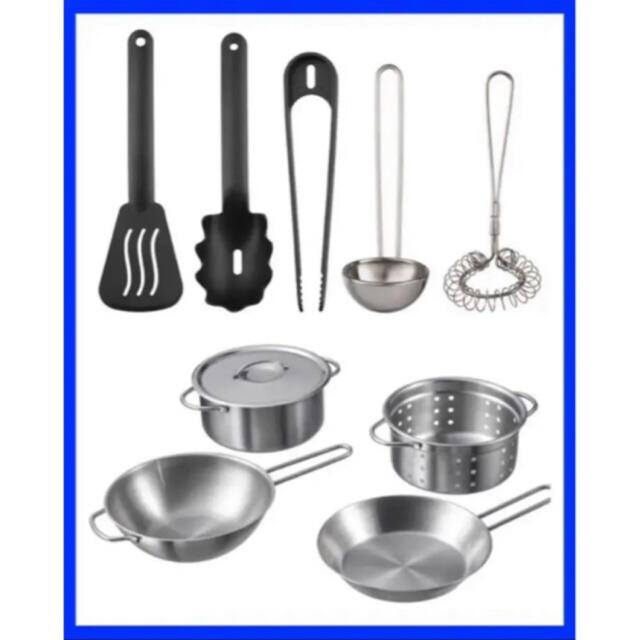 IKEA DUKTIG おもちゃの調理器具5点、キッチン用品5点セット キッズ/ベビー/マタニティのおもちゃ(知育玩具)の商品写真