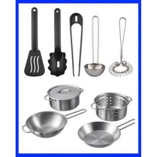 IKEA DUKTIG おもちゃの調理器具5点、キッチン用品5点セット