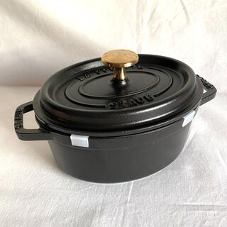 STAUB - ストウブ 17cm オーバル 鍋 STAUB ブラック