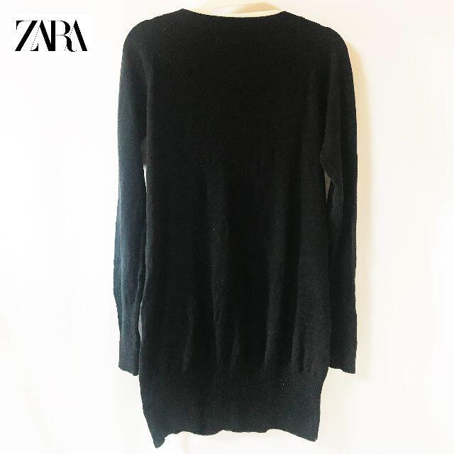 ZARA(ザラ)の【ZARA】 ザラ ニット リブ ロングカーディガン レディースのトップス(カーディガン)の商品写真