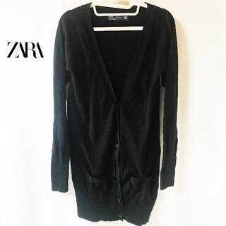 ZARA - 【ZARA】 ザラ ニット リブ ロングカーディガン