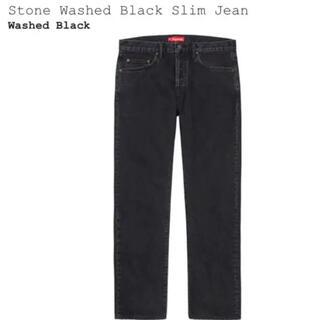 シュプリーム(Supreme)の【新古品】supreme stone wash slim jean 32 デニム(デニム/ジーンズ)