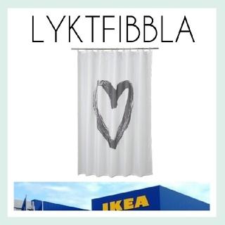 イケア(IKEA)の【IKEA】LYKTFIBBLA シャワーカーテン 180×200*おまけ付き*(カーテン)
