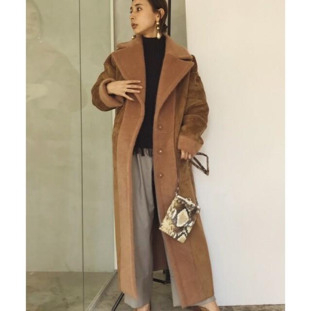 Ameri VINTAGE(アメリヴィンテージ)のAmeri  BLANKET LIKE FAKE MOUTON COAT レディースのジャケット/アウター(ロングコート)の商品写真
