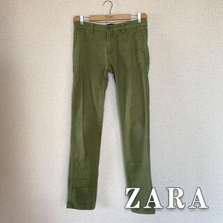 ザラ(ZARA)のZARA ワークパンツ チノパン オリーブ(ワークパンツ/カーゴパンツ)