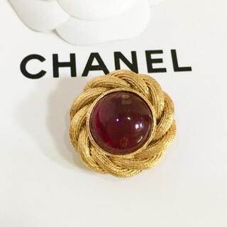 シャネル(CHANEL)の正規品 シャネル イヤリング 片方 ゴールド 金 チェーン レッド ストーン 石(イヤリング)