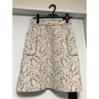 アプワイザーリッシェ(Apuweiser-riche)のアプワイザーリッシェレースボンディングスカート(ひざ丈スカート)