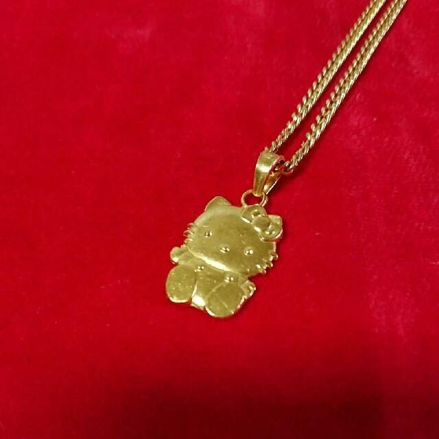 ハローキティ純金18kネックレス レディースのアクセサリー(ネックレス)の商品写真