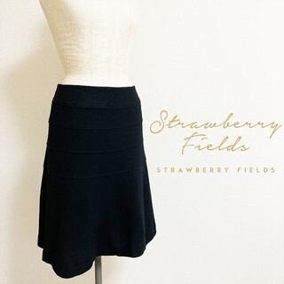 STRAWBERRY-FIELDS - STRAWBERRY-FIELDS☆上品ウールフレアスカート