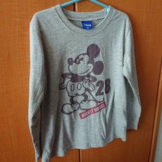ディズニー(Disney)のロンT ミッキーマウス 長袖 グレー 子供 120(Tシャツ/カットソー)