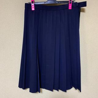 紺プリーツスカート 大きめサイズ