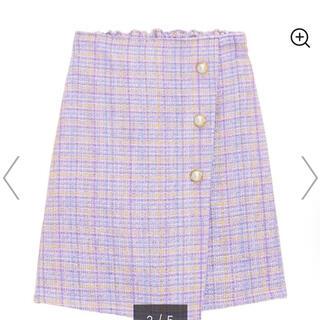 GU - GU ツイードスカートパンツ