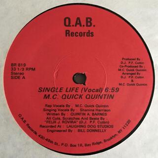 M.C. Quick Quintin - Single Life(ヒップホップ/ラップ)