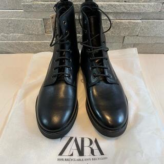 ザラ(ZARA)の[新品未使用]ZARA ザラ ブーツ リアルレザー 本革 ミドル(ブーツ)