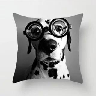 【新品】 クッションカバー 45 45×45 黒白 Dog おしゃれ