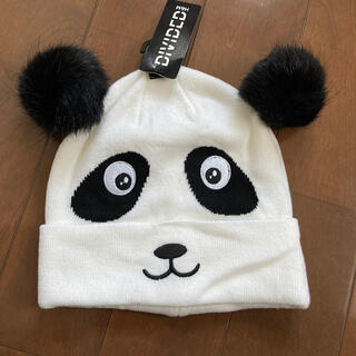 H&M - 新品タグ付き。H&Mパンダのニット帽