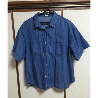 ジーユー(GU)の半袖デニムシャツ(シャツ/ブラウス(半袖/袖なし))