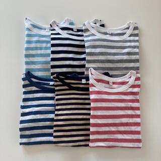 MUJI (無印良品) - 無印良品 キッズ オーガニックコットン 長袖Tシャツ 110 6枚セット