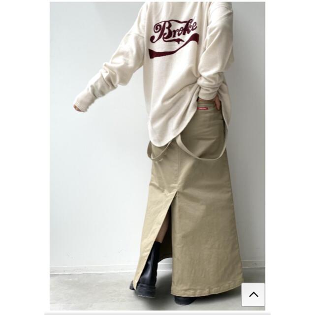L'Appartement DEUXIEME CLASSE(アパルトモンドゥーズィエムクラス)のアパルトモンSkirt with suspenders(GOOD GRIEF!) レディースのスカート(ロングスカート)の商品写真