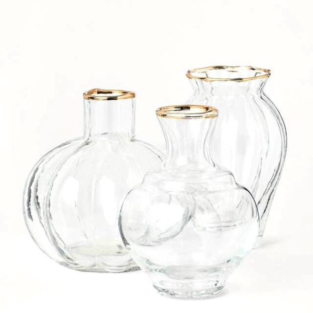 ZARA HOME(ザラホーム)のガラス フラワー ベース 新品未使用 H&M インテリア/住まい/日用品のキッチン/食器(食器)の商品写真