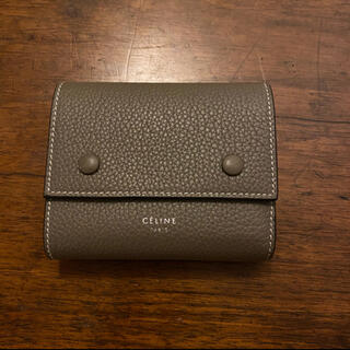 celine - 入手困難 ほぼ未使用 旧ロゴ celine セリーヌ  三つ折り 財布 スリ